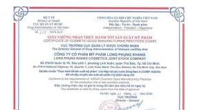 Chúc mừng Long Phụ Khang đạt chứng nhận CGMP ASEAN