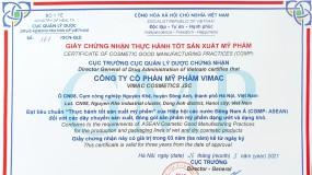 Chúc mừng nhà máy Vimac đạt chứng nhận CGMP ASEAN