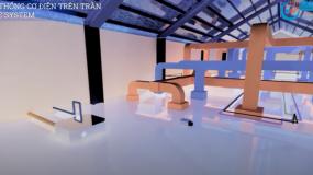 Video 3D dự án mẫu Xưởng Mỹ phẩm đủ điều kiện sản xuất theo Nghị định 93 (Hệ thống M&E)