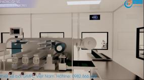 Mô hình 3D Nhà máy sản xuất Thực phẩm bảo vệ sức khỏe tiêu chuẩn HS GMP